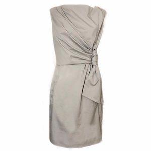 DVF Amara Dress In Anthracite Midi Grey 8